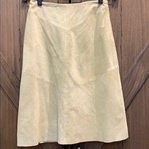 NWT Banana Republic pale green leather skirt, Sz2